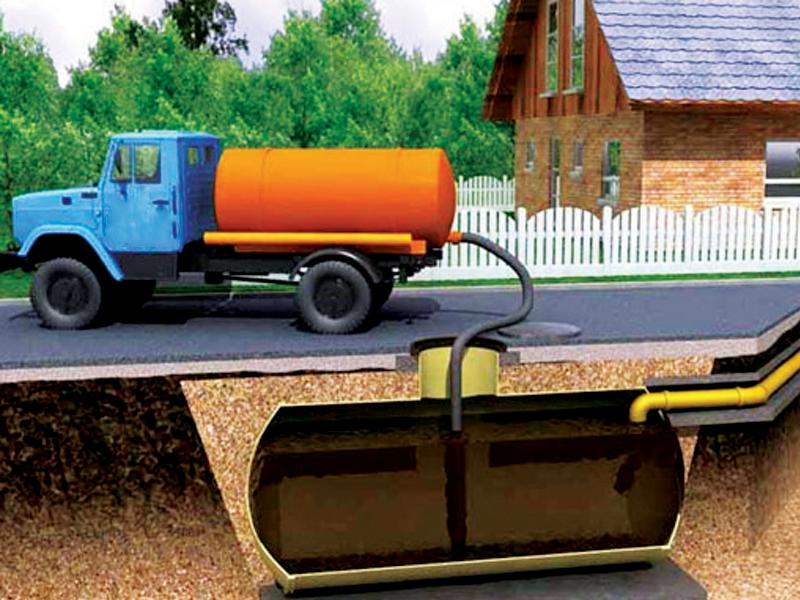 Откачка канализации в частном